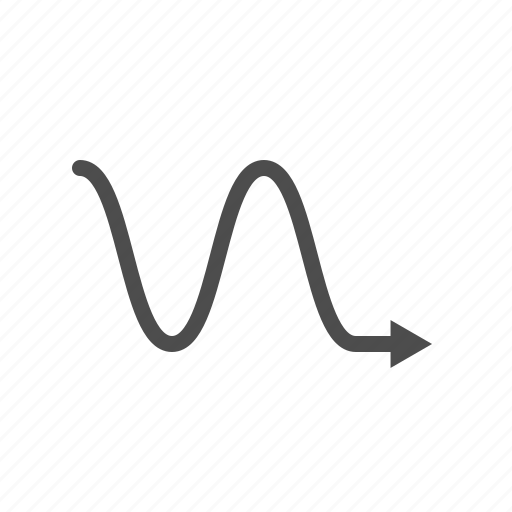 Arrow, arrows, right, wave icon - Download on Iconfinder