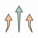 arrow, arrows, up