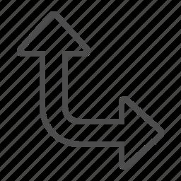 arrow, direction, navigation icon