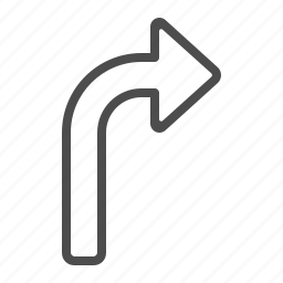 arrow, direction, navigation, right, sign icon