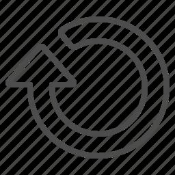 arrow, refresh, undo icon