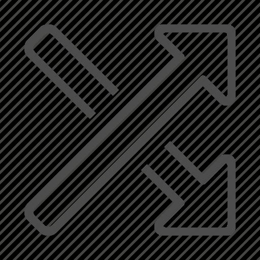 arrow, direction, shuffle icon