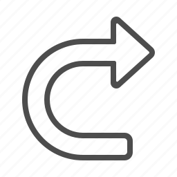 arrow, direction, refresh, u turn, u-turn, undo icon
