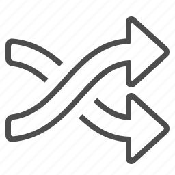 arrows, direction, multimedia, navigation, shuffle icon
