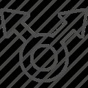 arrow, direction, navigation, roundabout