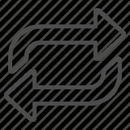 arrow, exchange, multimedia, repeat icon