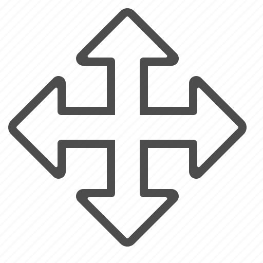 arrows, crossroad, direction, navigation icon