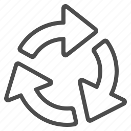 arrows, data, echange, recycle sign icon