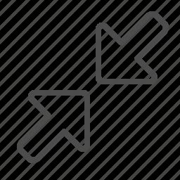 arrows, zoom in icon