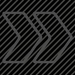 arrows, fast forward icon