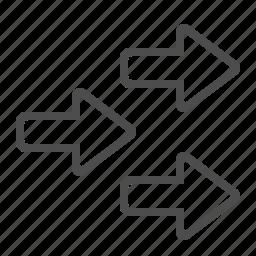 arrows, direction, navigation icon