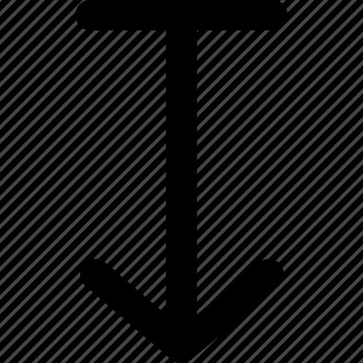 arrow, arrows, bottom, creative, down, grid, shape, to, tobottom, top, top-to-bottom icon
