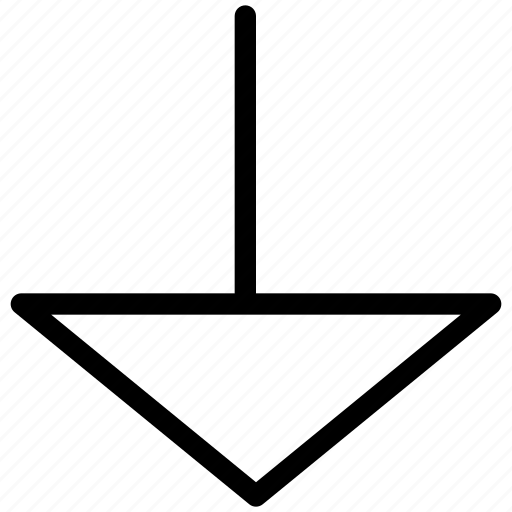 arrow, arrows, chart, creative, diagram, direction, document, documents, down, graph, grid, line, page, paper, shape, sheet, text, triangle, triangle-arrow-down icon