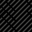 arrow, double, down, pointer, pointing icon