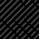 arrow, left, pointer, pointing, rewind icon