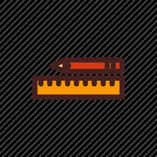 art, design, drawing, pen, pencil, ruler, tool icon