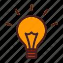 art, bulb, creative, energy, idea icon
