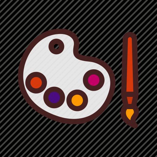 art, color, graphic, paint, painting, palette icon