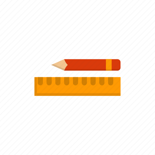 art, drawing, pen, pencil, ruler, tool icon