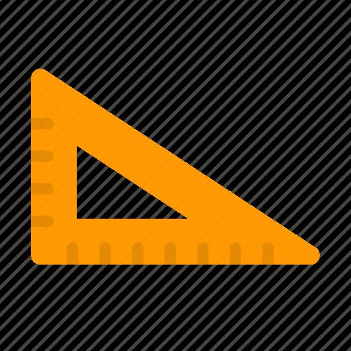art, ruler, set, square, triangle icon