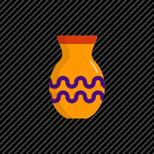 art, decoration, interior, pot, vase icon