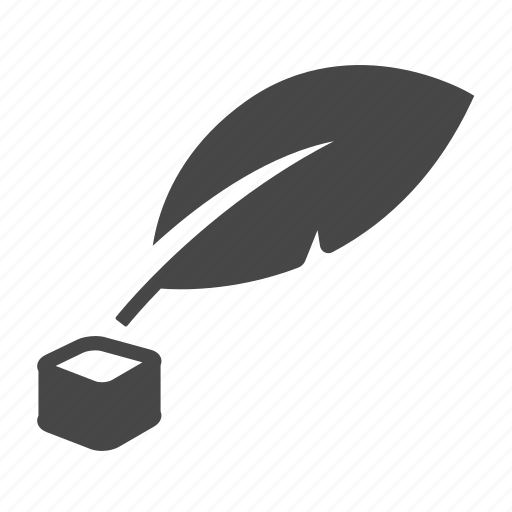 feather, ink, writer icon