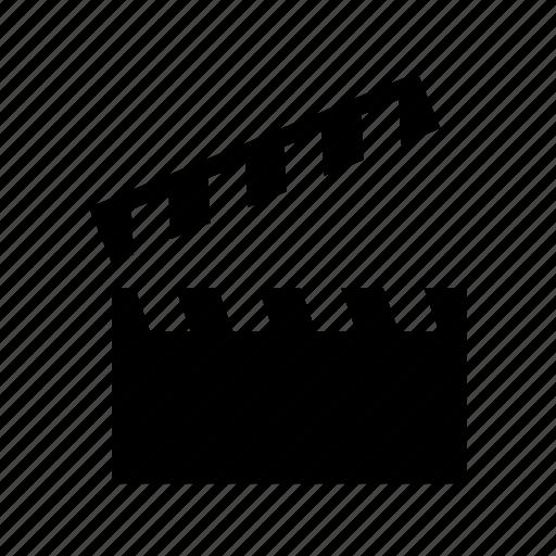 cinematography, clapboard, clapper icon