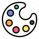 art, artist, color, drawing, paint, painter, palette icon