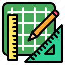 ruler, art, draw, tool, sketch, design icon