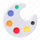 palette, drawing, color, painter, artist, art, paint icon