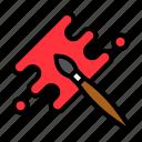 art, brush, paint, paintbrush, painting icon