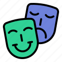 art, dramatics, mask, performance icon