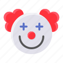 art, avatar, clown, jester, joker, smile icon