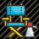art, director, chair, cinema, seat, movie, loudspeaker