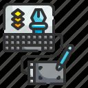 graphic, design, computer, draw, sketch, editor, tool