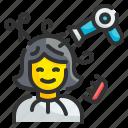hairstylist, occupation, design, comb, scissors, woman, salon