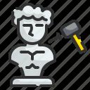 sculpture, art, design, museum, hammer, carving, statue