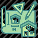 architecture, construction, sketch, house, design, plan, draft