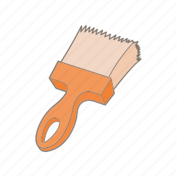 brush, cartoon, color, paint, paintbrush, tool, work icon