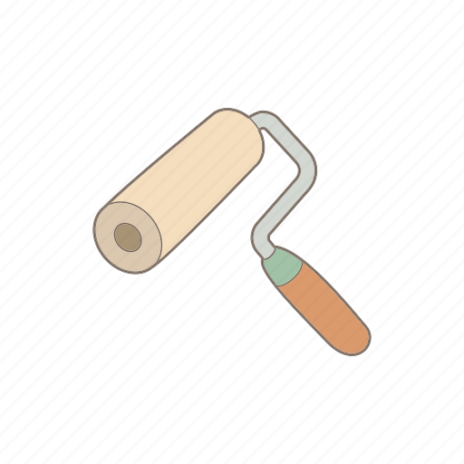 brush, handle, paint, painter, repair, roll, roller icon