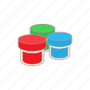 art, blue, cartoon, color, gouache, jar, paint