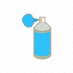 aerosol, bottle, can, cartoon, container, paint, spray icon