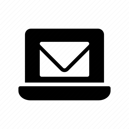 device, inbox, laptop, mail, message icon