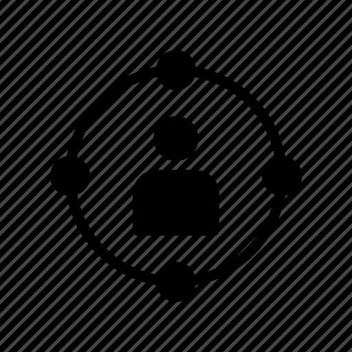 account, avatar, profile, target, user icon