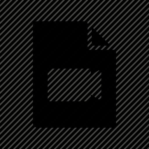 archive, document, media, recording, videofiles icon