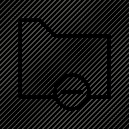 archive, document, files, folder, remove icon