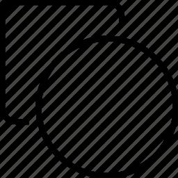 circle, shapes, square icon