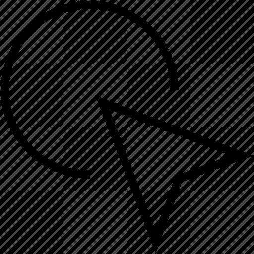 arrow, cursor, pointer, pointing icon