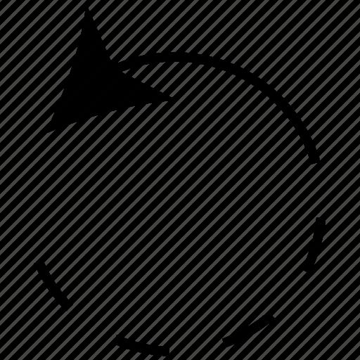 arrow, circle, circular, reloading icon
