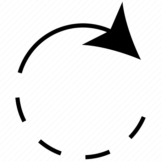 arrow, circle, circular, update icon